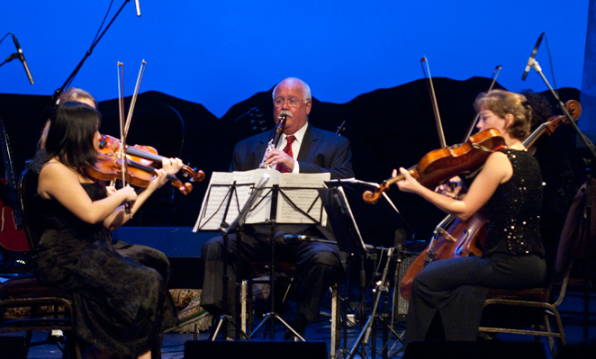 Larry Combs with Montclaire String Quartet