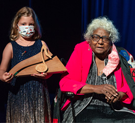 Lucia Lipton and 2020 Inductee Ethel Caffie-Austin